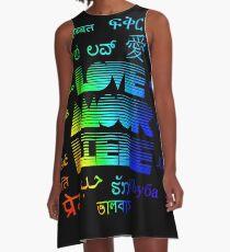 Multilingual Love A-Line Dress