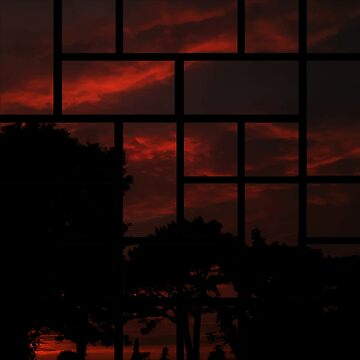 Orange sky in the night by BomTutton