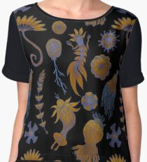 Sea Ballet in Psychedelic Colors, more apologies to Ernst Haeckel Chiffon Top