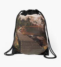 Mountain Path Drawstring Bag