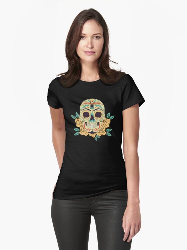 Camiseta Ancha Para Mujer Arte Del Tatuaje Old School Gothic Skulls