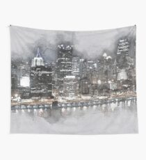 Night Drive Thru Pittsburgh Wall Tapestry