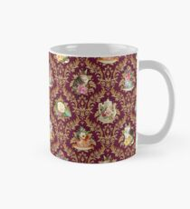 Teatime - Cats, Tea and Books Damask Mug