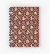 Teatime - Cats, Tea and Books Damask Spiral Notebook