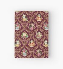 Teatime - Cats, Tea and Books Damask Hardcover Journal