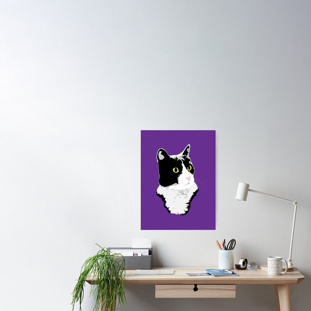 Regal Tuxedo Kitty Poster