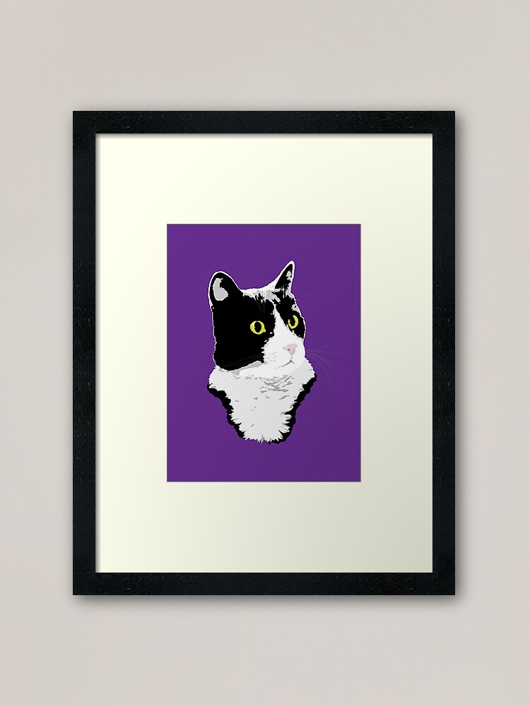 Alternate view of Regal Tuxedo Kitty Framed Art Print