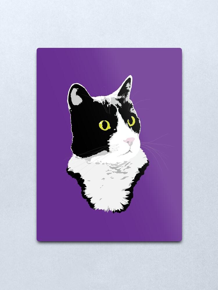 Alternate view of Regal Tuxedo Kitty Metal Print