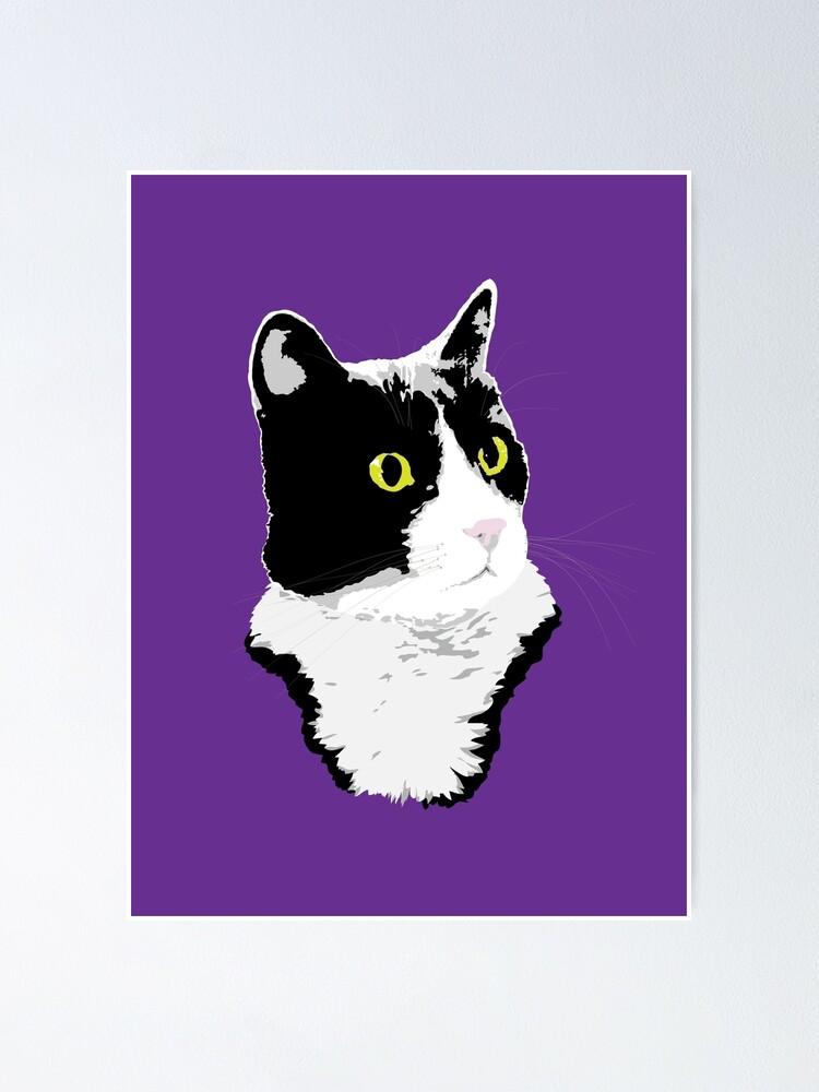 Alternate view of Regal Tuxedo Kitty Poster