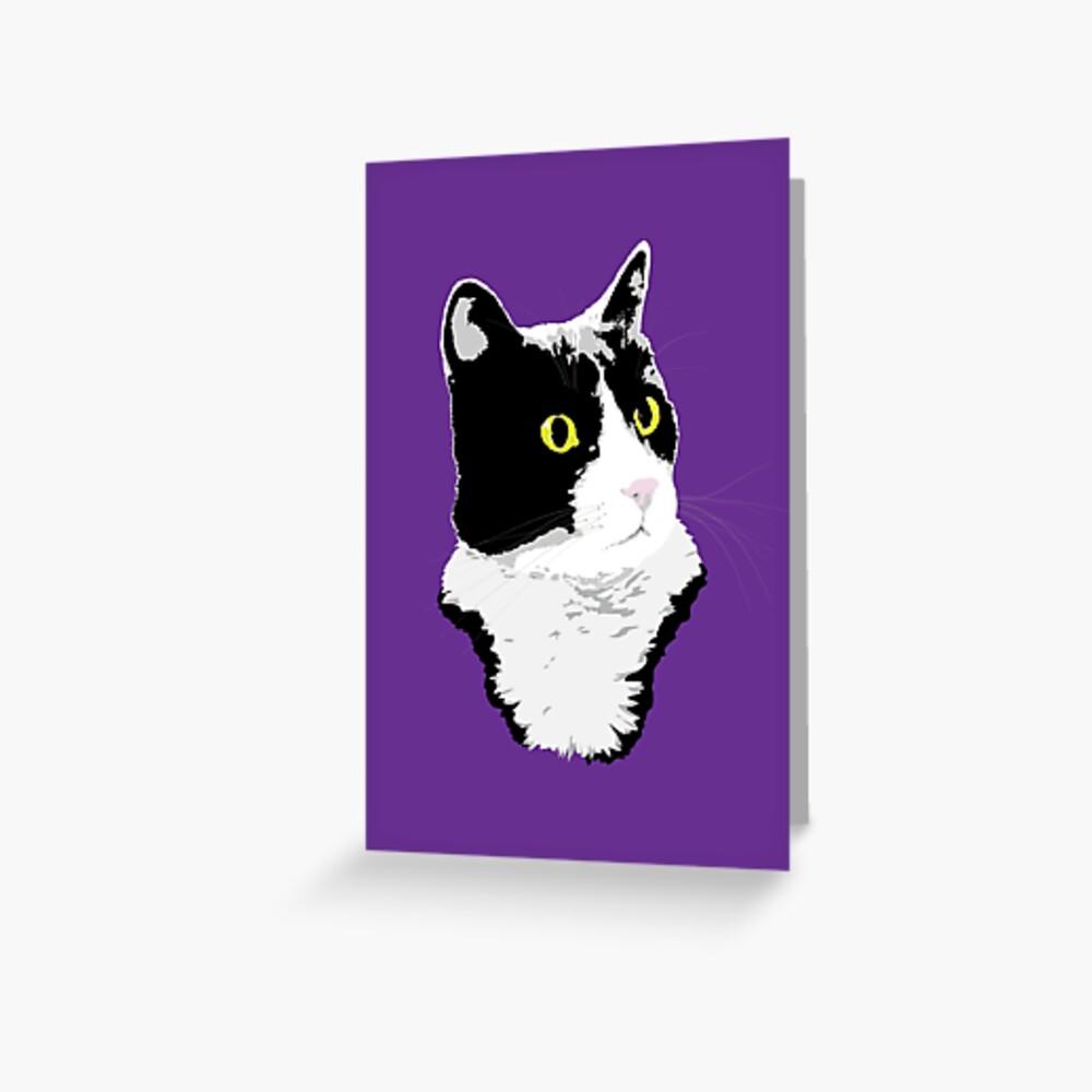 Regal Tuxedo Kitty Greeting Card