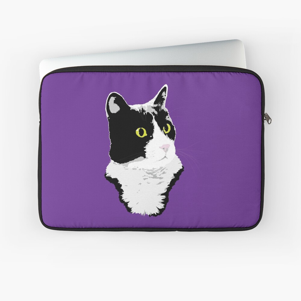 Regal Tuxedo Kitty Laptop Sleeve