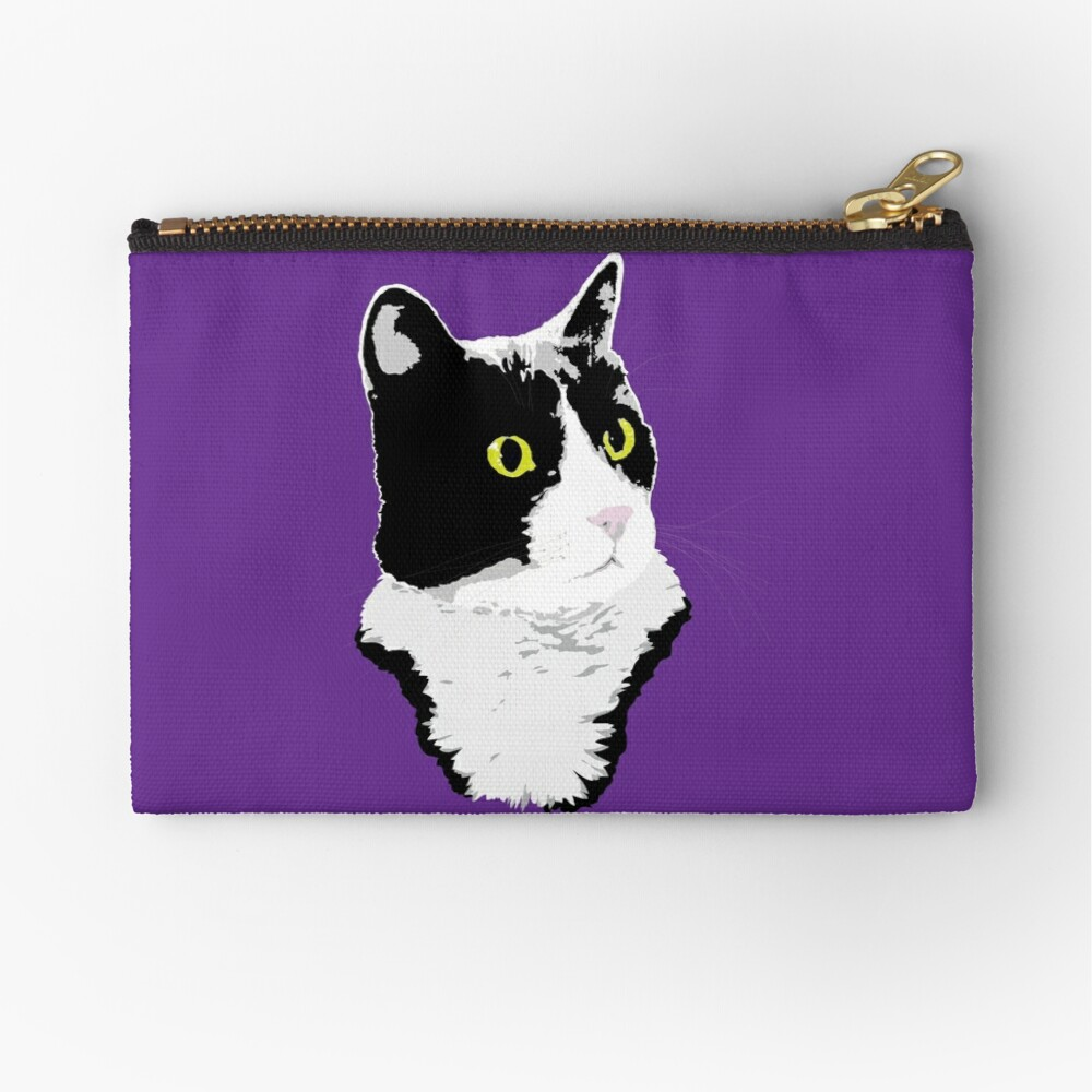 Regal Tuxedo Kitty Zipper Pouch