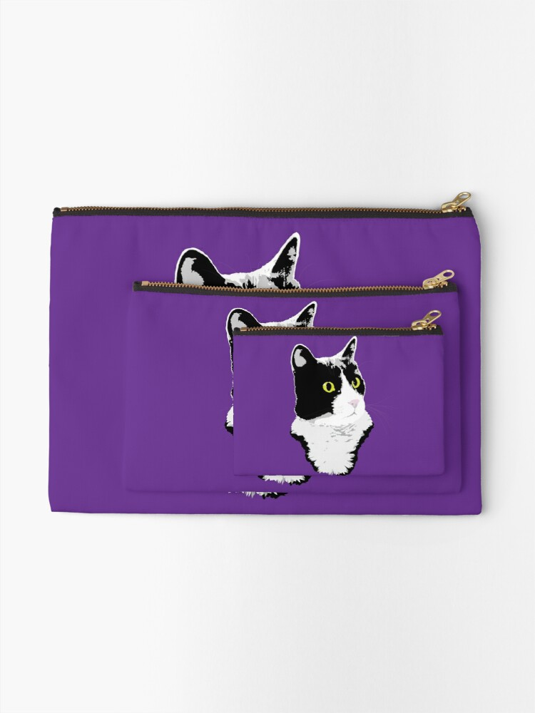 Alternate view of Regal Tuxedo Kitty Zipper Pouch