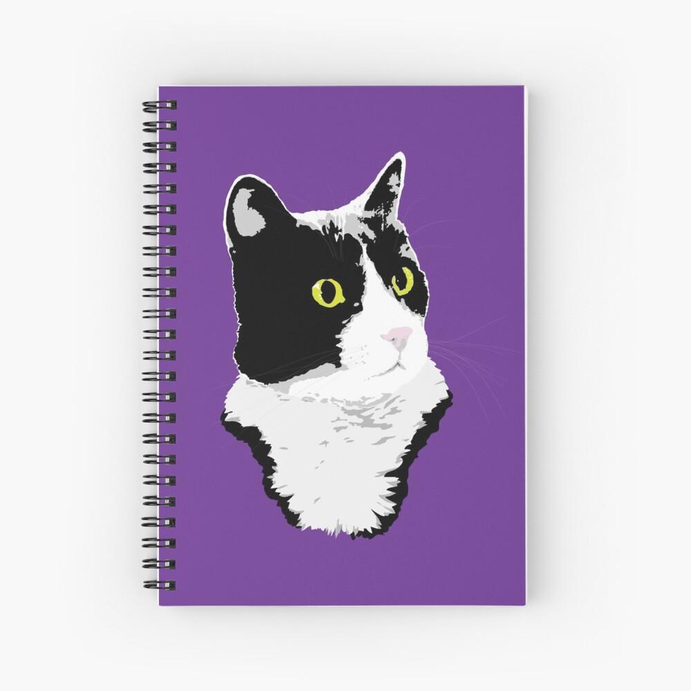 Regal Tuxedo Kitty Spiral Notebook