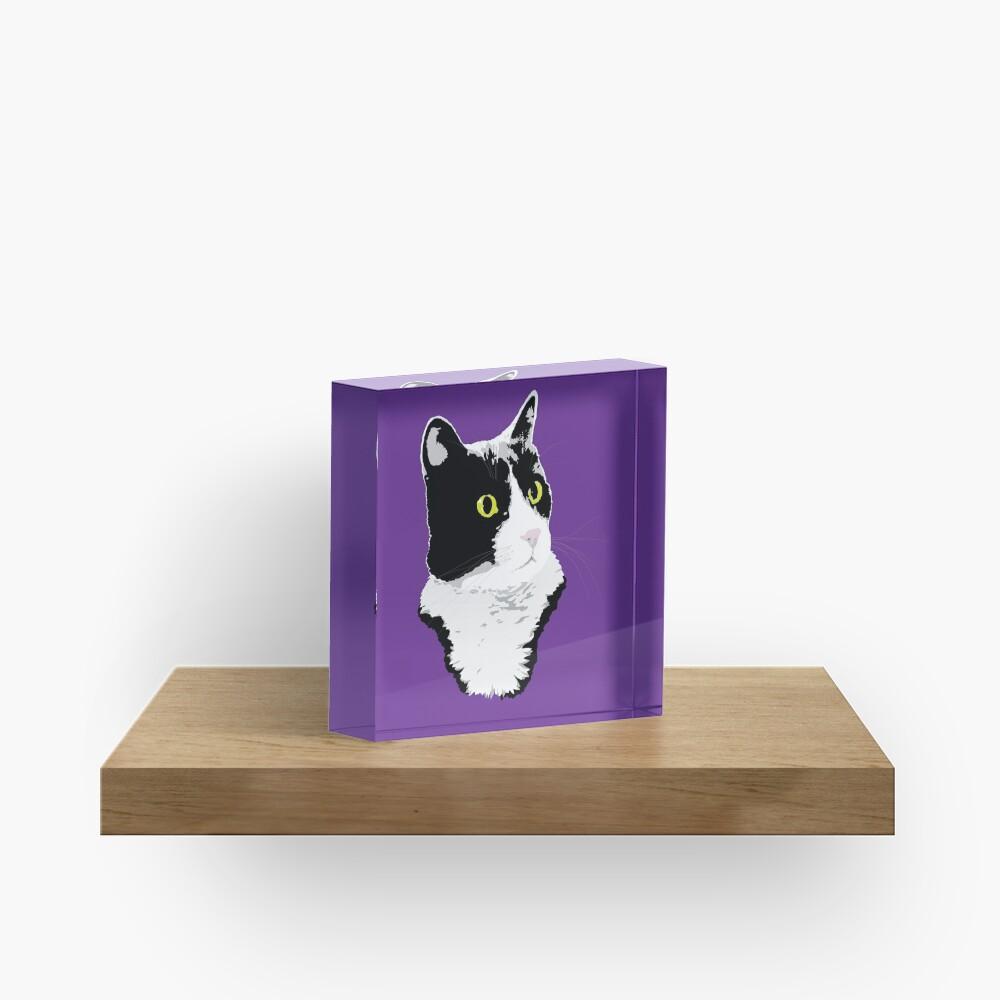 Regal Tuxedo Kitty Acrylic Block