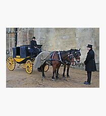 Your Carriage Awaits M'Lady Photographic Print