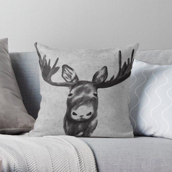 Beautiful Moose Head Design Throw Pillow