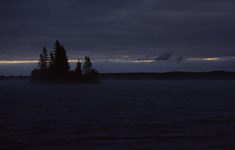 A foggy morning on Opeongo Lake by bertspix