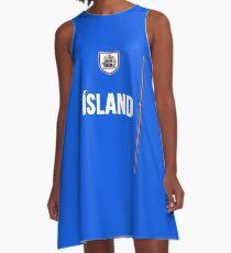 Iceland National Team Jersey Design - Island Team Wear A-Line Dress