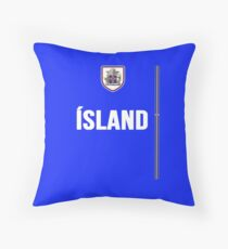 Iceland National Team Jersey Design - Island Team Wear Throw Pillow