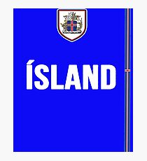 Iceland National Team Jersey Design - Island Team Wear Photographic Print