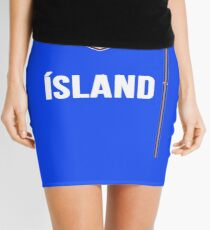 Iceland National Team Jersey Design - Island Team Wear Mini Skirt