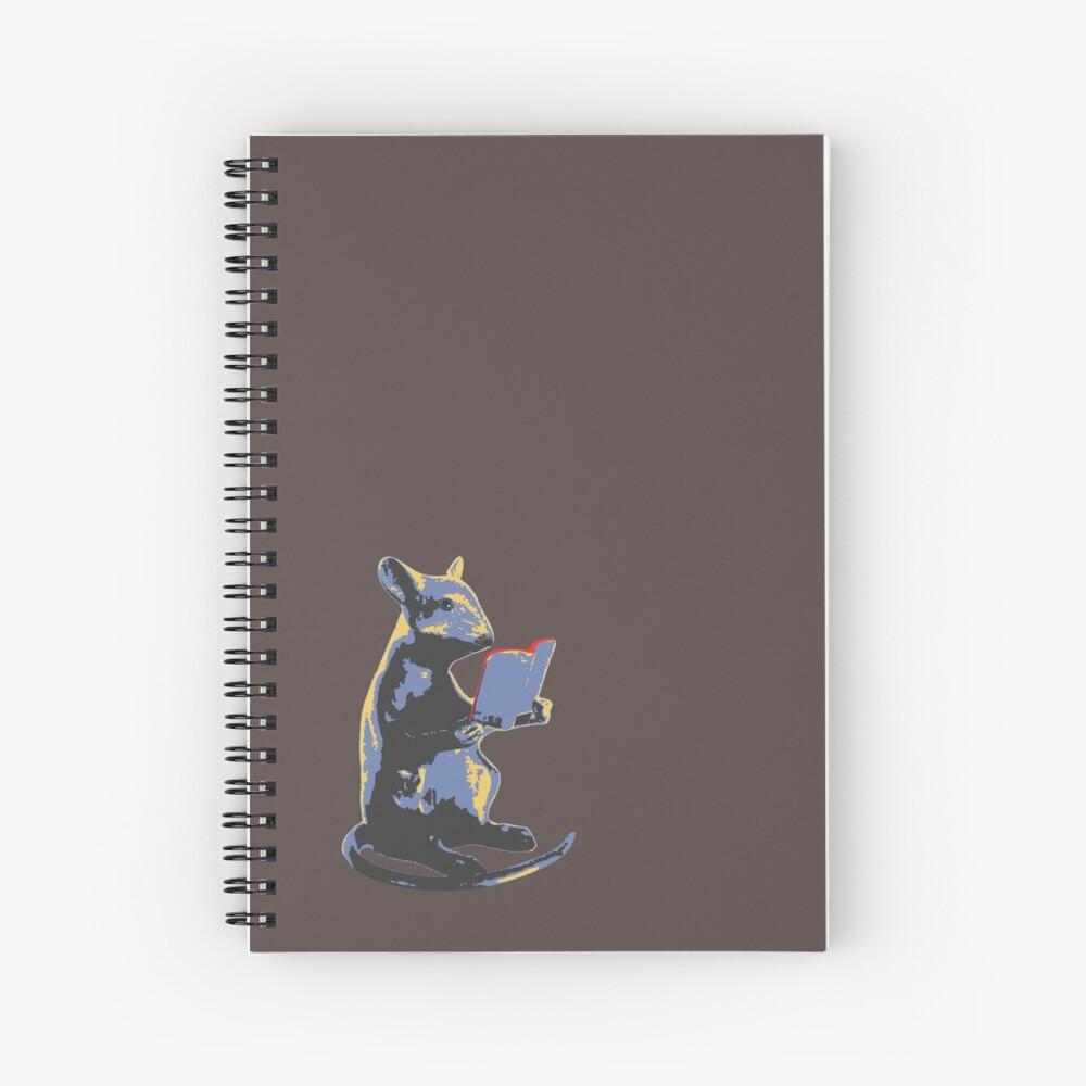 Book Mouse - blue Spiral Notebook