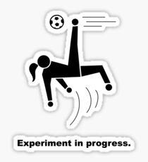 Experiment In Progress - Soccer Sticker