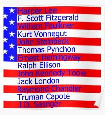 Great American Novelists 20th Century Poster