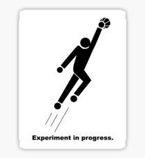 Experiment In Progress - Basketball Sticker