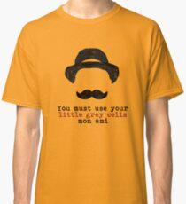 Camiseta clásica Agatha Christie: Hercule Poirot - Pequeñas células grises