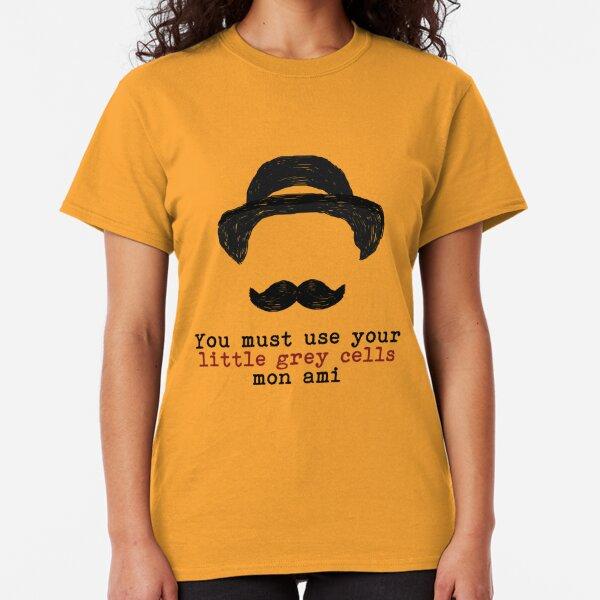 Agatha Christie: Hercule Poirot - Little Grey Cells Classic T-Shirt