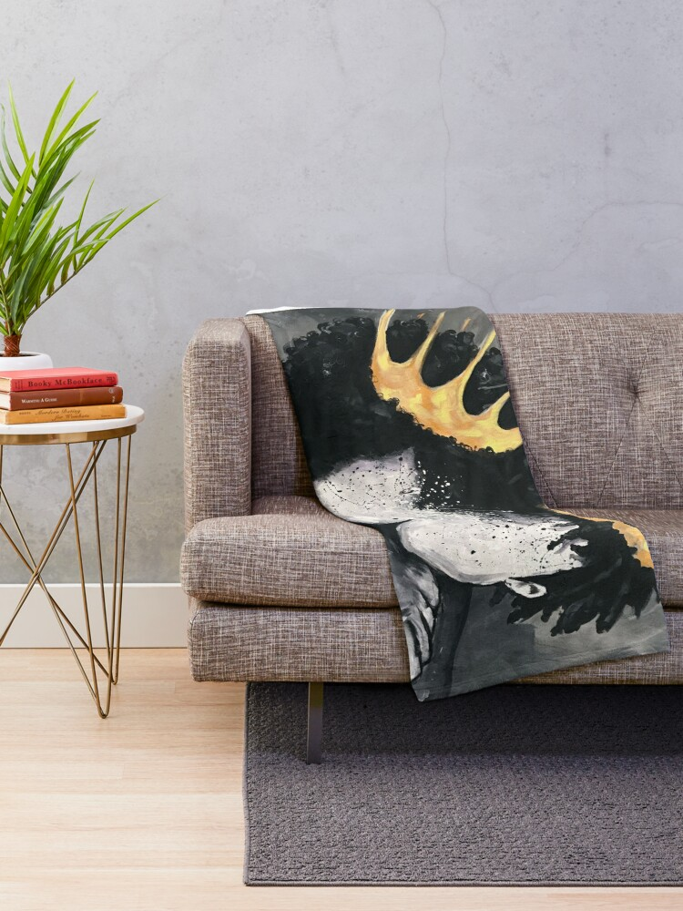 Alternate view of Naturally Royalty Throw Blanket