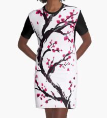 Cherry Blossom T-Shirt Kleid