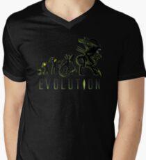 Alien Evolution ( Black Variant) Men's V-Neck T-Shirt