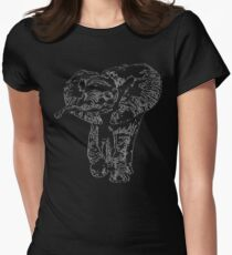 Enchanting Baby Elephant   African Wildlife Womens Fitted T-Shirt