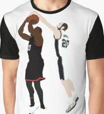 Manu Ginobili Block On James Harden Graphic T-Shirt