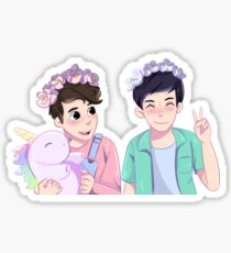 Pastel Dan and Phil Sticker