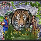 A Bengal Tiger habitat with Indian girls   by NadineMay
