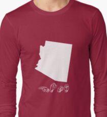ASL (American Sign Language) Arizona Tshirt Long Sleeve T-Shirt