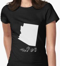 ASL (American Sign Language) Arizona Tshirt Womens Fitted T-Shirt