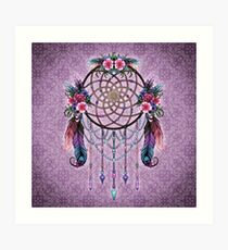 Dreamcatcher - Boho Style Art Print