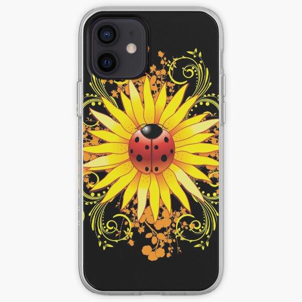 Ladybug Sunflower Paisley Pattern iPhone Soft Case