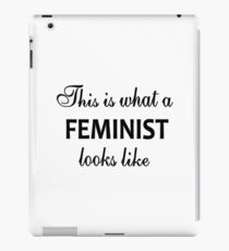 Feminism; Feminist; Women; Equal Rights for Women; Simple Quote; I AM iPad Case/Skin
