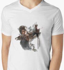 Tomb Raider Painting V-Neck T-Shirt