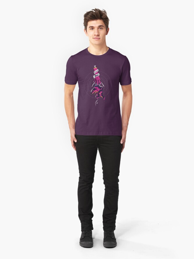 Alternate view of Reaching for god Slim Fit T-Shirt