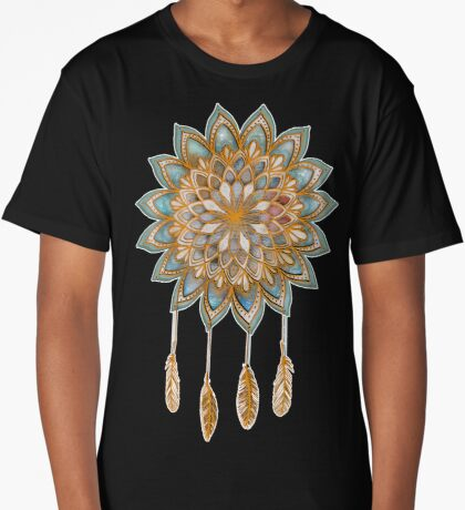 Golden Dreams Dreamcatcher Long T-Shirt