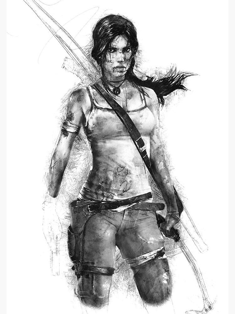 Lara Croft Drawing by TortillaChief