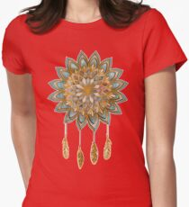Golden Dreams Dreamcatcher Womens Fitted T-Shirt