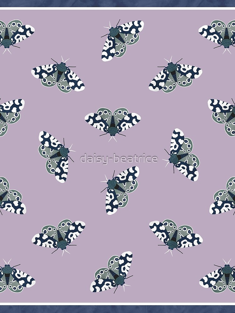 Mod Moths - Navy and Lilac by daisy-beatrice